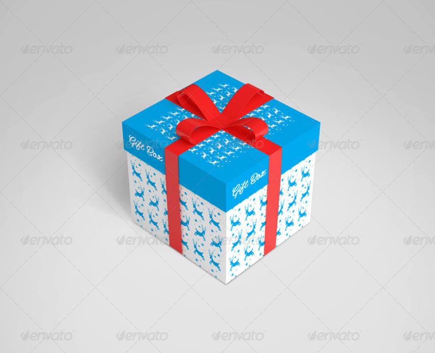 Gift Box Mockup Template