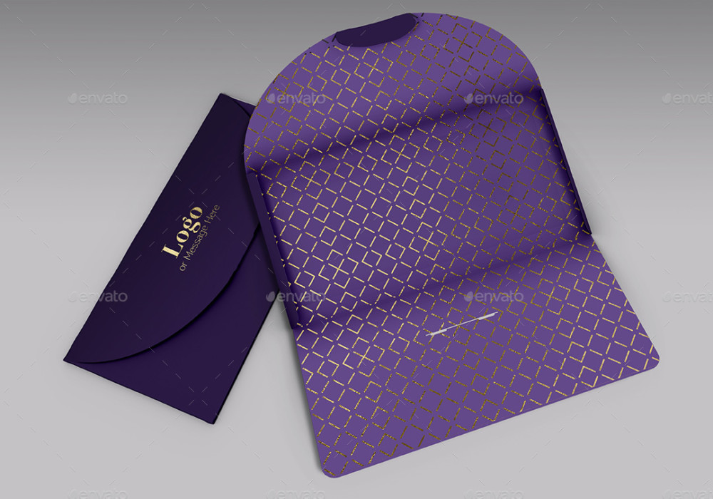 Gift Envelope Card Mockup Template