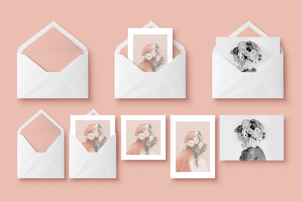 Greeting Card and Envelop Mockup