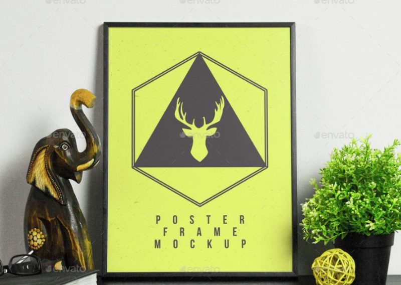 High Quality Poster Frames Mockup