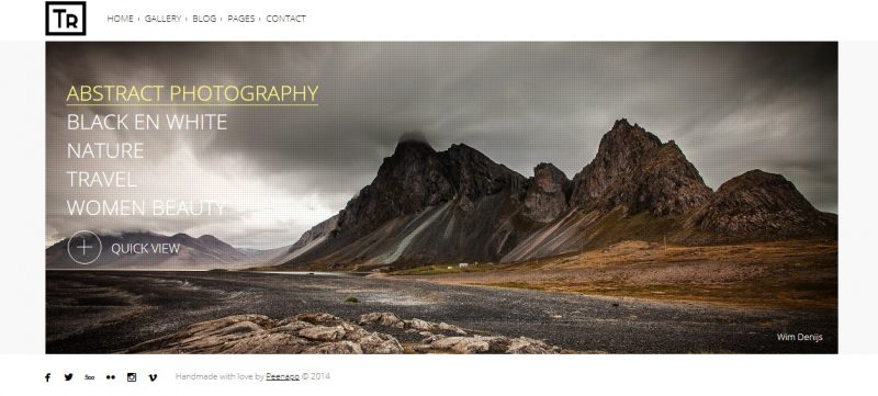 High Resolution Photography WordPress Theme