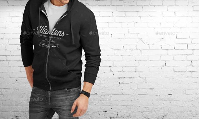 Hoodie Branding Mockup PSD