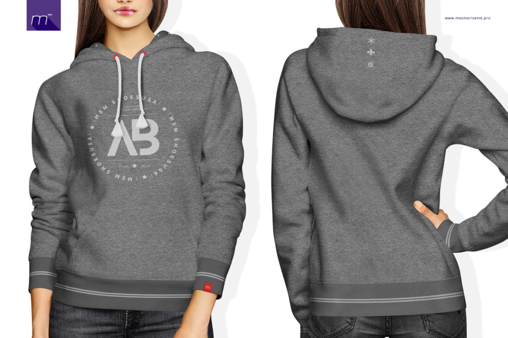 Hoodie Front and Back Mockup