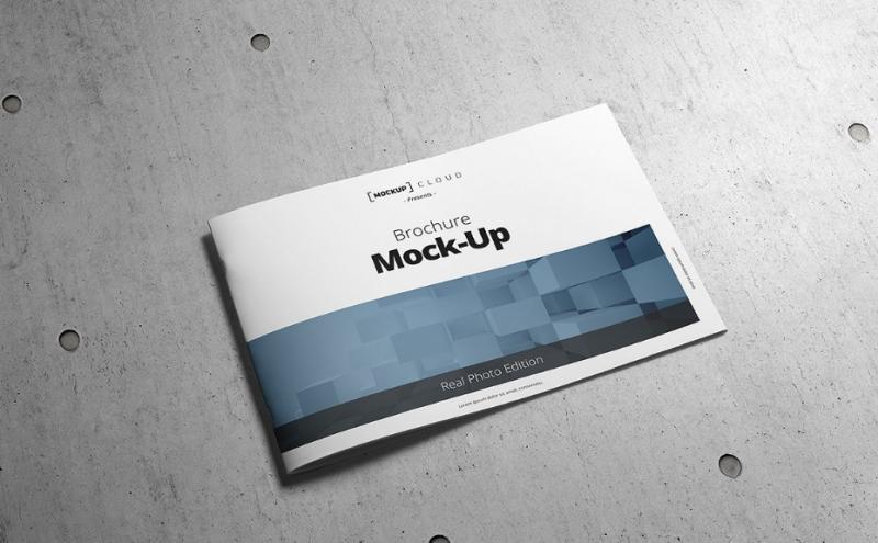 Horizontal Booklet Mockup PSD