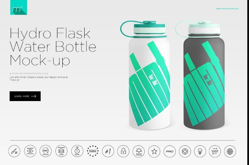 Hydro Flask Mockup PSD