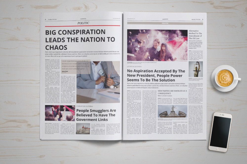 In Design Newspaper Template