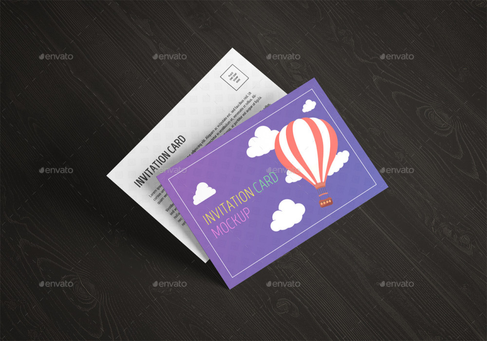 Invitation Card Mockup Template