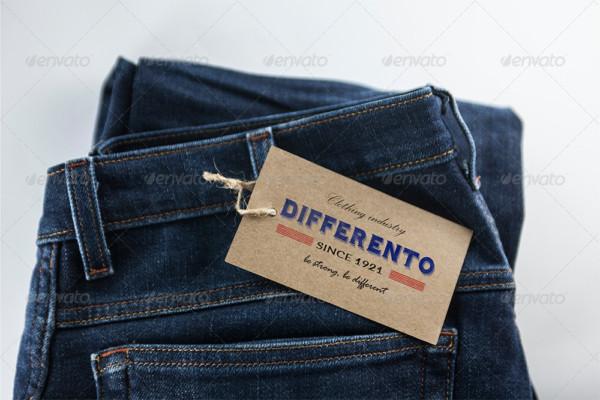 Jeans Label PSD Mockup