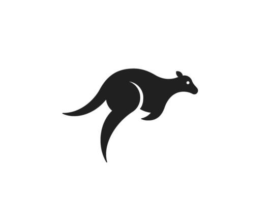 Jumping Kangaroo Logotype