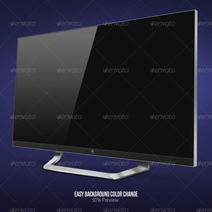 LED TV Mockup PSD Template
