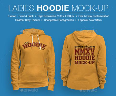 Ladies Hoodie Mockup PSD