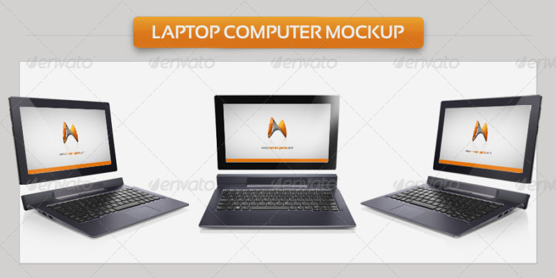 Laptop Computer Mockup Template