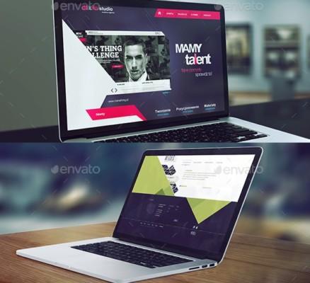 Laptop Mockup PSD Bundle