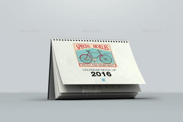 Layered Calendar Mockup Design