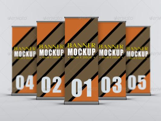 Layered PSD Banner Mockup