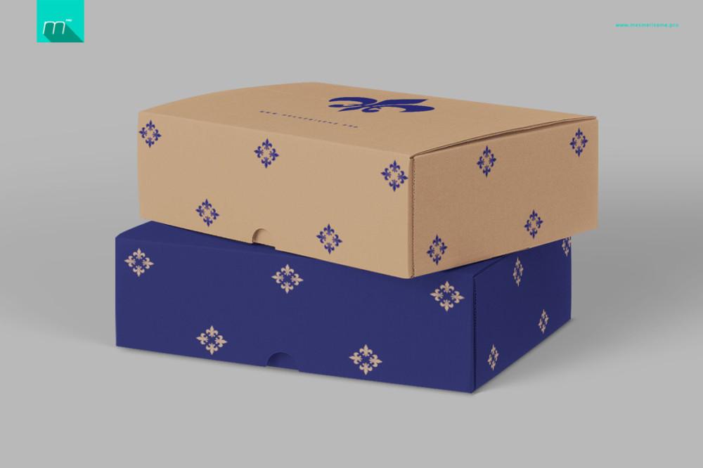 Mailing Box Mockup PSD