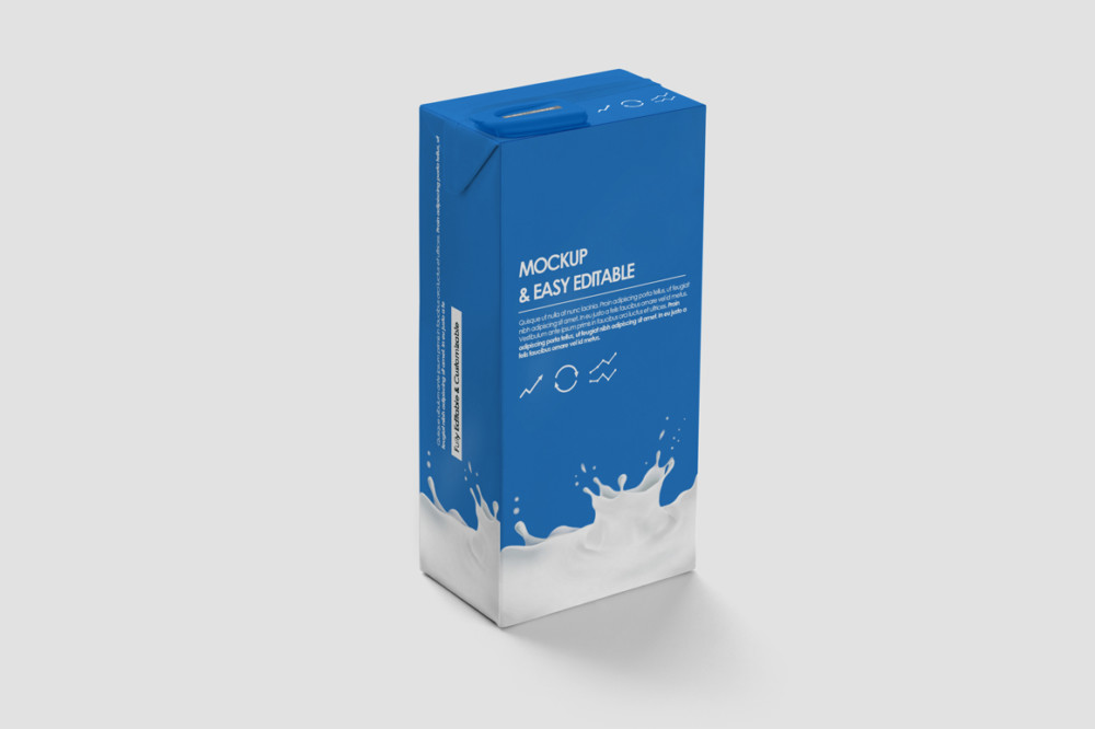 Milk Packaging Box Mockup