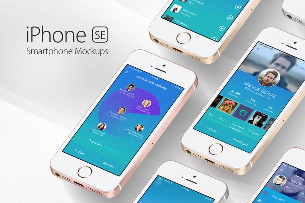 22+ Mobile Mockup PSD Designs for Designers - Graphic Cloud