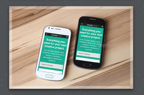 Mobile Devices Mockup Template