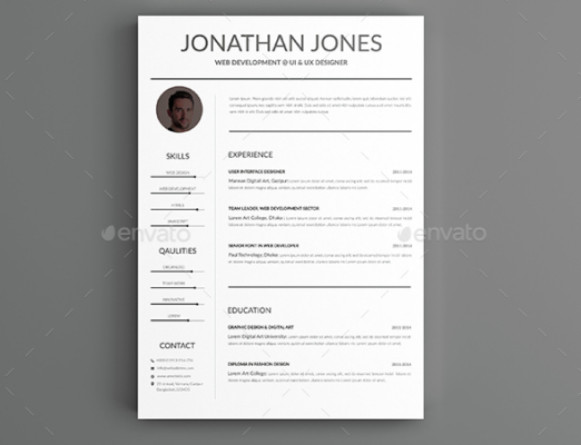 25 word resume template and cover letter template designs graphic cloud
