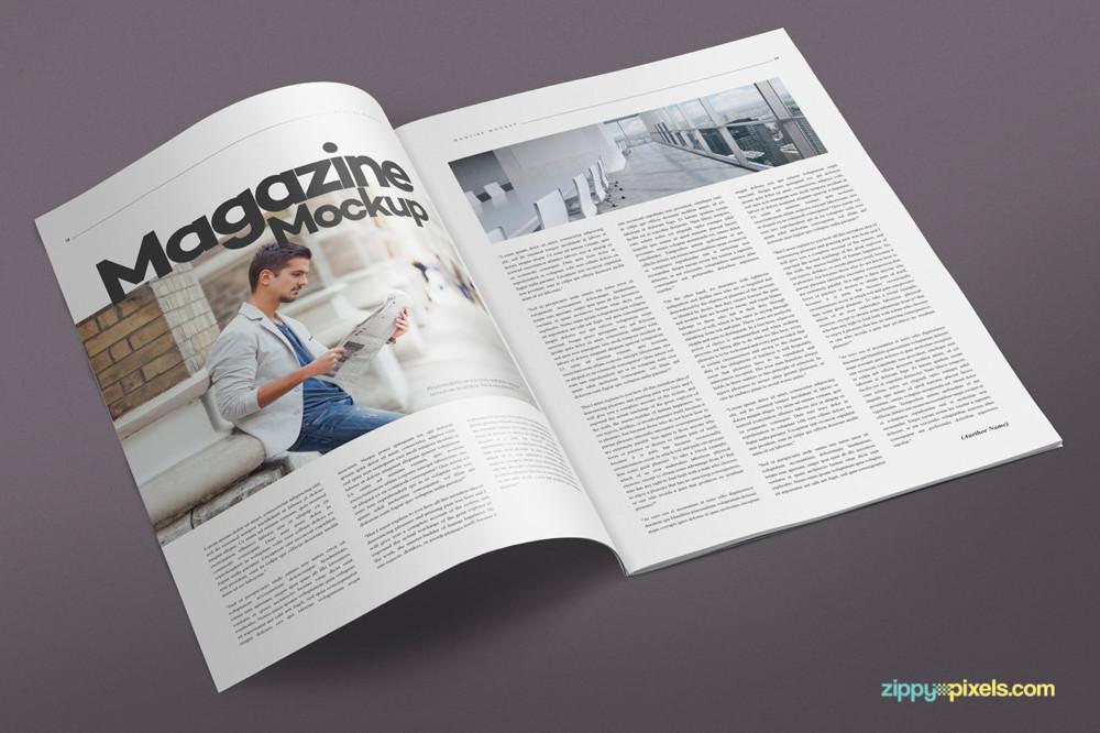 Multipupose Magazine Mockup PSD