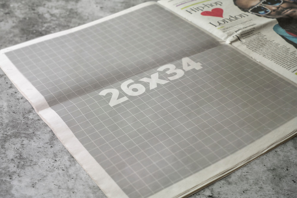 Newspaper Ad Mockup Template
