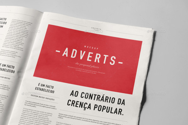 Newspaper Advert Mockup templates