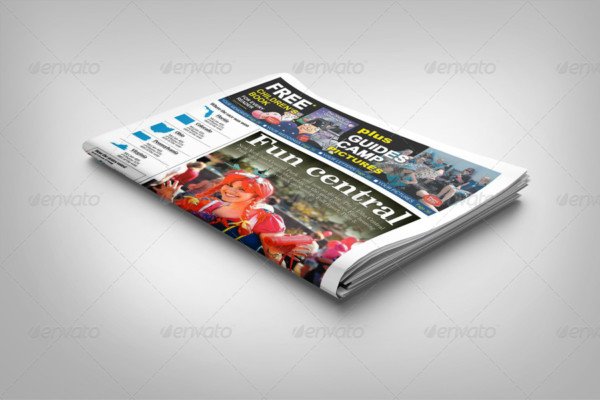 Newspaper Display AD  Mockup Template