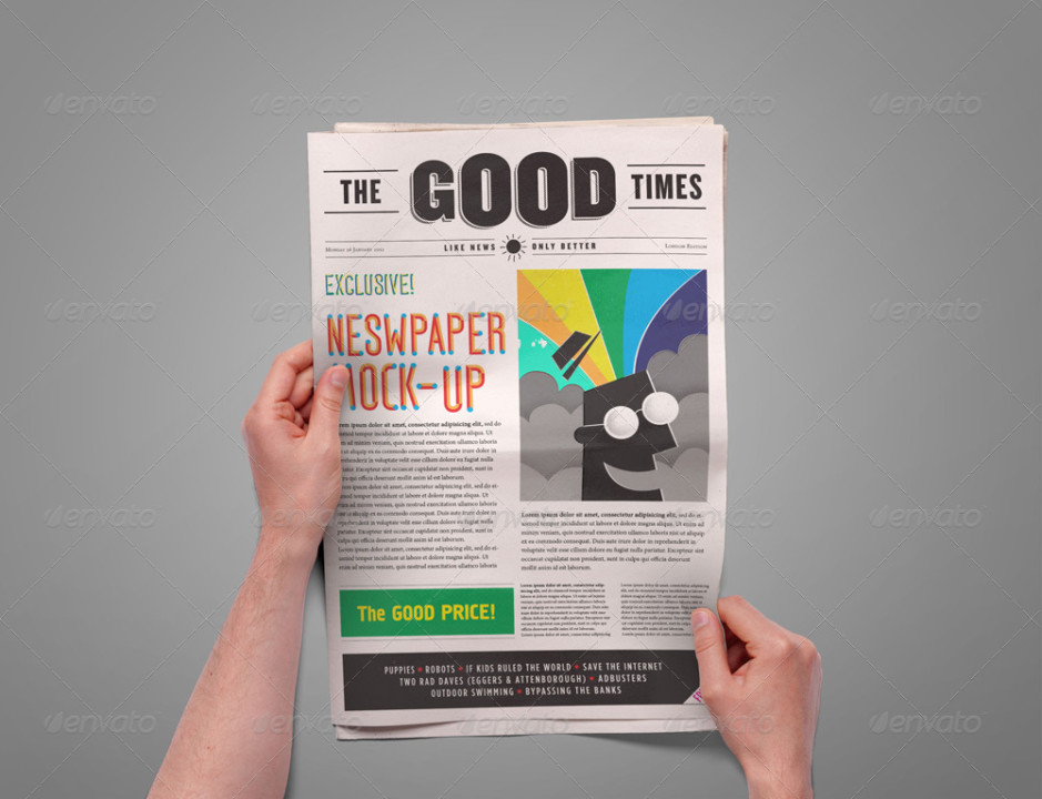 Newspaper Mockup Presentation Template