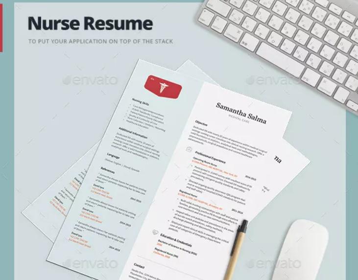 Nurse Job Resume Template