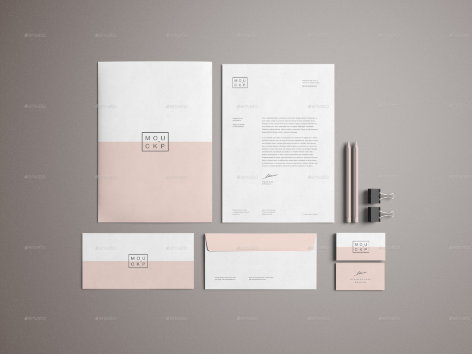 Office Branding Mockup Design PSD