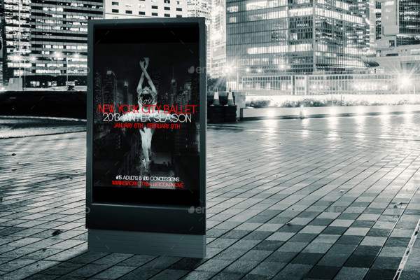 Outdoor Ad Mockup Template PSD