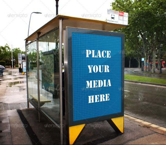 Outdoor Poster Mockup PSD