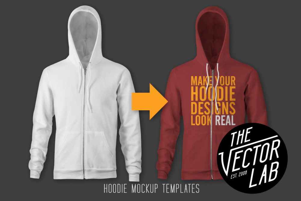 PSD Hoodie Mockup Templates