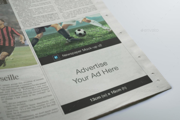 PSD Newspaper Mockup Template