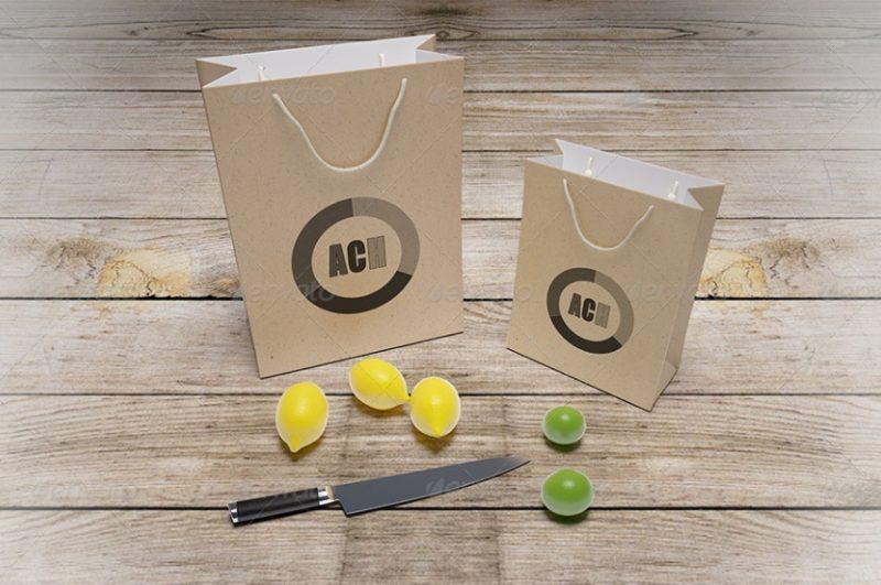 PSD Paper Bag Mockup PSD