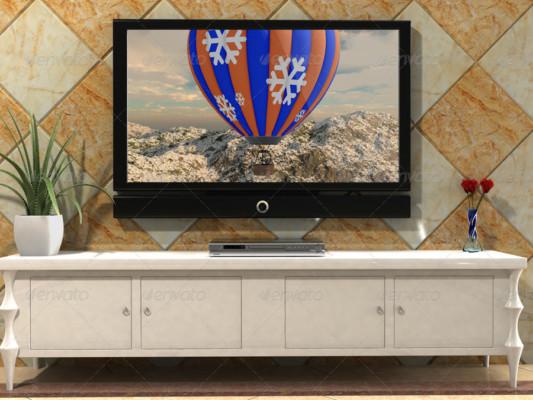 PSD TV Screen Mockup