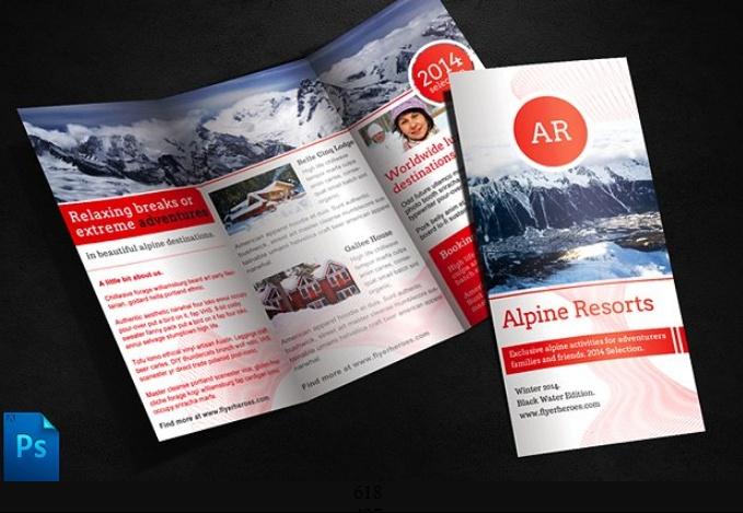PSD Travel Brochure Template PSD