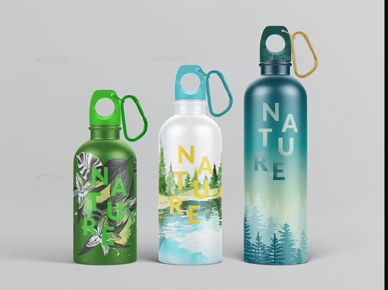 PSD Water Bottle Mockup