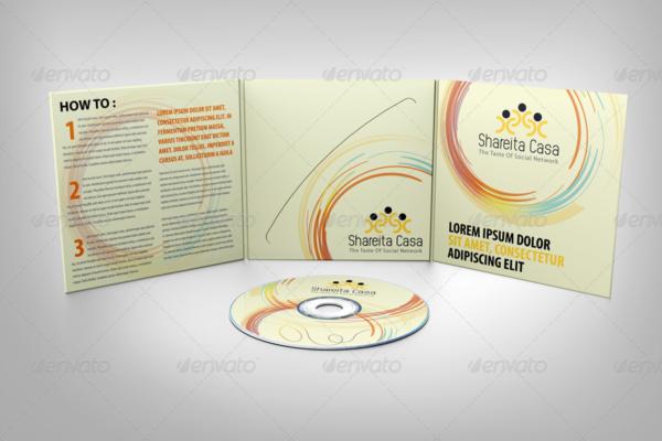 Packaging CD Mockup PSD