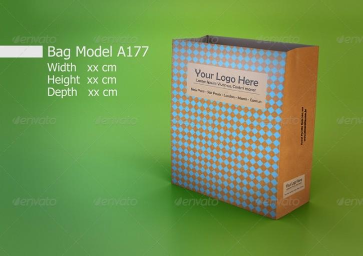 Paper Bag Bundle Mockup