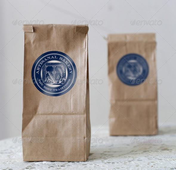 Paper Bag Label Mockup