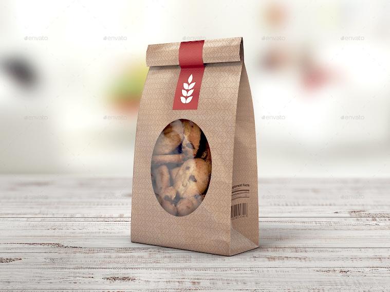 Paper Bag Packaging Mockup PSD