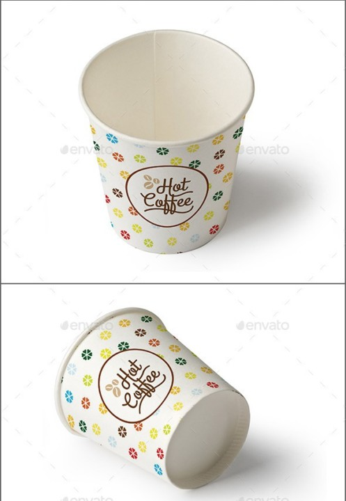 Paper Cups Mockup Template