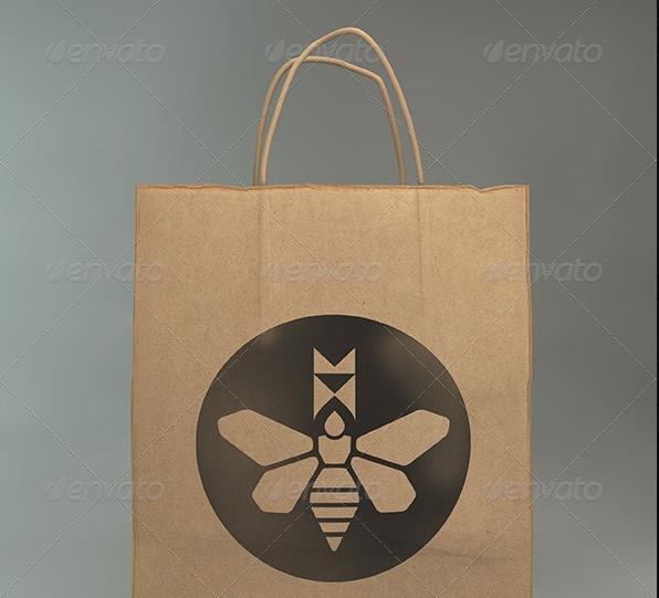 Paper Gift Bag Mockup