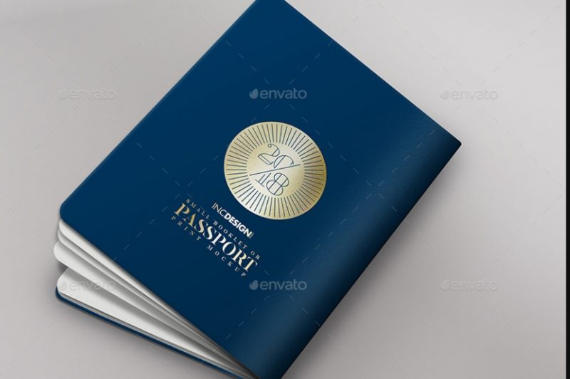 Passport and booklet Mockup