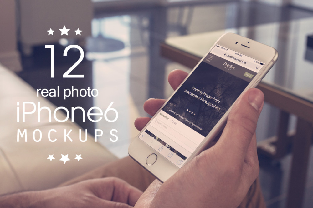 Photo Realistic I Phone 6 Mockup