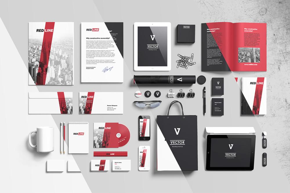 Photorealistic Branding Mockup PSD Design