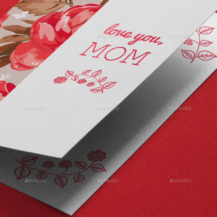 Photorealistic Invitation card Mockup