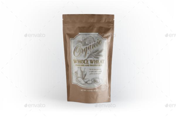 Plastic Food Bag Mockup